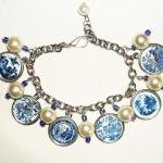 Blue Willow Plate Charm Br..