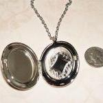 CAT CAMEO Necklace Locket P..